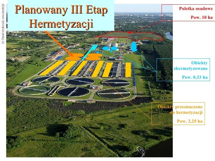 Poletka osadowe Pow. 10 ha Obiekty shermetyzowane Pow. 0,33 ha Obiekty przeznaczone do hermetyzacji Pow. 2,25 ha Planowany...
