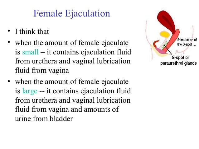 What is female ejaculation fluid