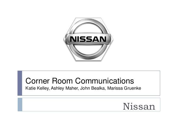 Corner Room CommunicationsKatie Kelley, Ashley Maher, John Bealka, Marissa Gruenke                                        ...