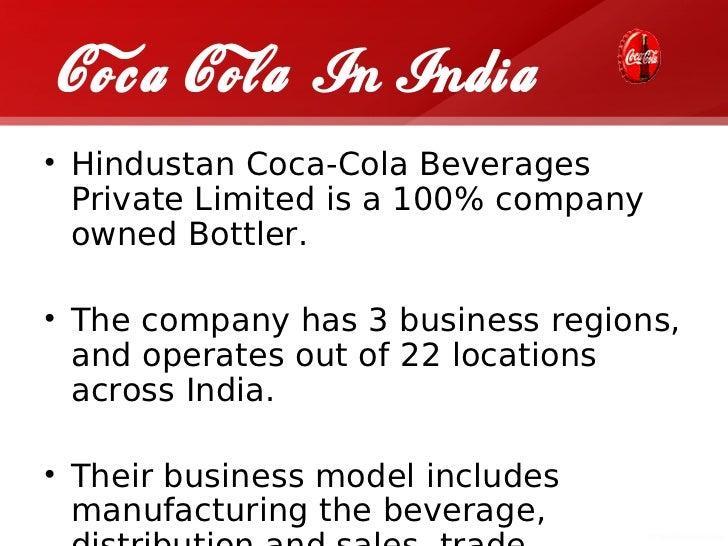 Case study: Coca cola in India
