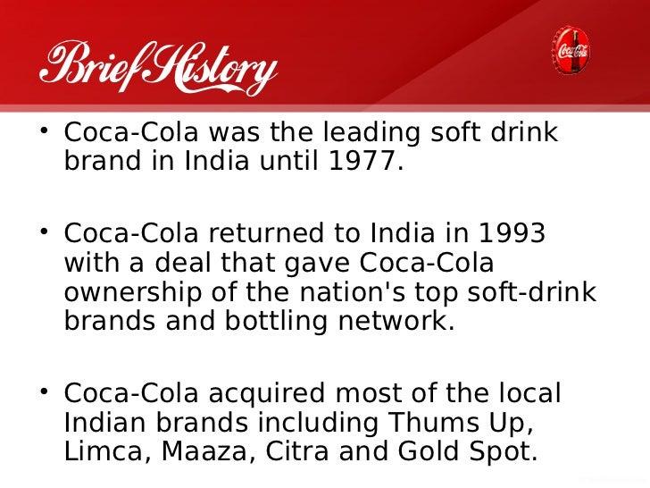 Coca cola company background essay