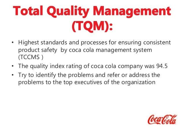 operation management of coca cola company