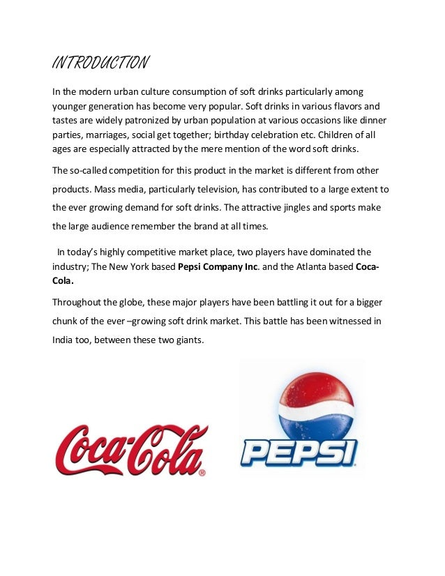 pepsi case study marketing Case study_pepsi cola mba individual assignment declaration subject: marketing – pepsi cola case study 1.
