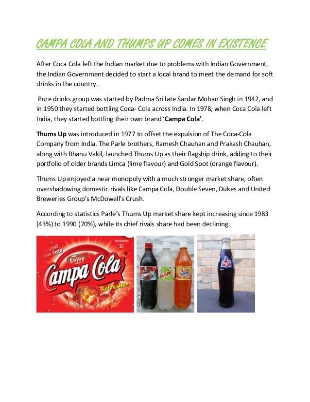 coke and pepsi learn to compete in india case study solution Case 1 3 coke and pepsi learn to compete in india the environment in india is challenging, but we're learning how to crack it case study pepsi & coca.