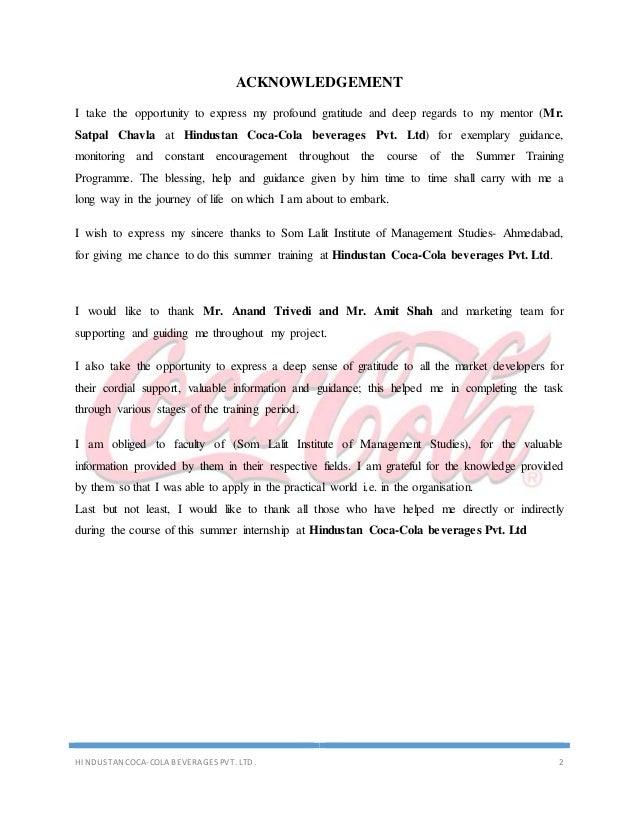Internship report on coca cola Custom paper Writing Service