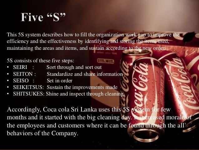 total quality management of coca cola company
