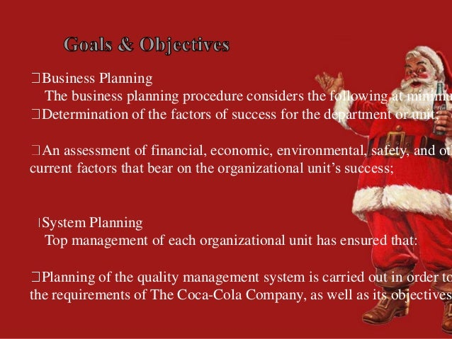 Material requirements planning coca cola