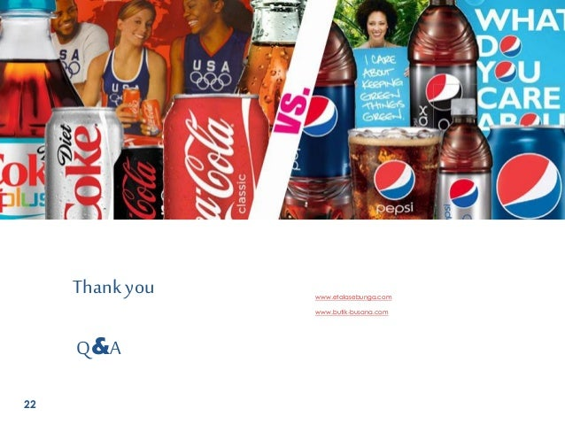 cola wars coke vs pepsi case study 1- case summary on cola wars coke vs pepsi 2- answering question 5, state the answer first then follow up with relations/ reasons answer formats are as follows.