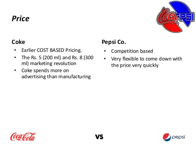coke vs pepsi  coke spends more on advertising than manufacturing 19 promotioncoke pepsi co
