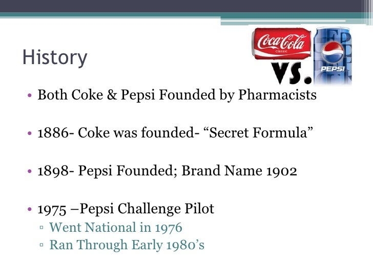coke vs pepsi history