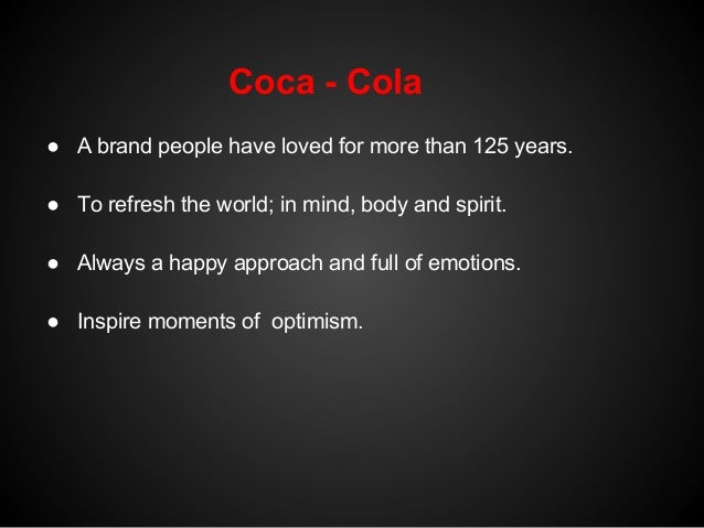 coca cola marketing campaign Throughout the decades and multitudes of marketing campaigns, coca-cola has  remained consistent when communicating one strong and.