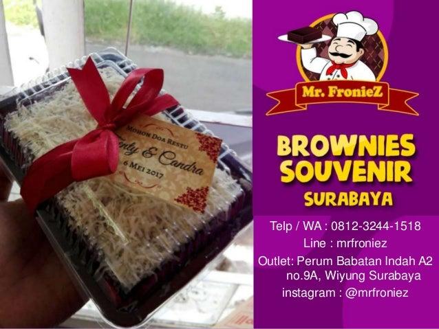 Brownies Souvenir Unik Wa 0812 3244 1518 Souvenir Kue