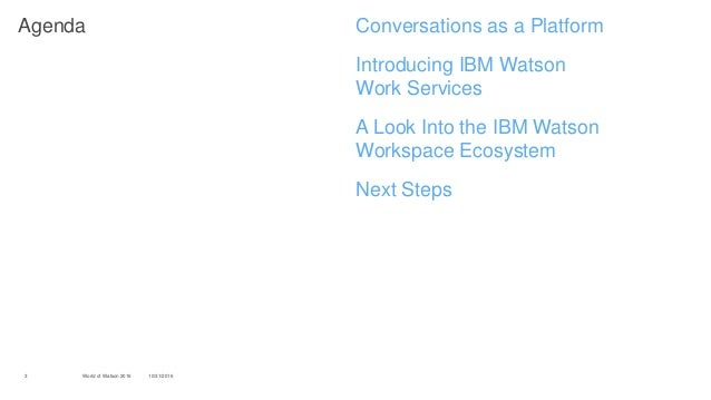 Col 2817 Cognitive Team Collaboration With Ibm Watson Work Services