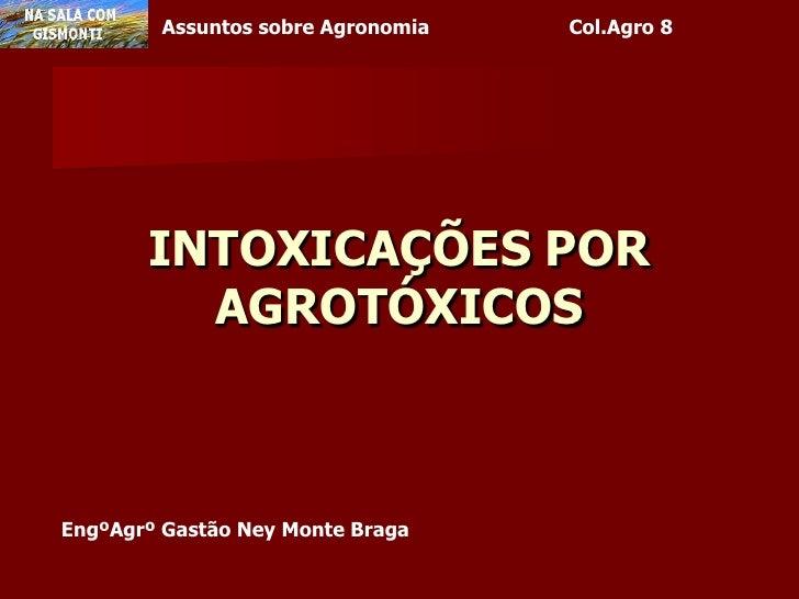 INTOXICAÇÕES POR AGROTÓXICOS<br />EngºAgrº Gastão Ney Monte Braga<br />