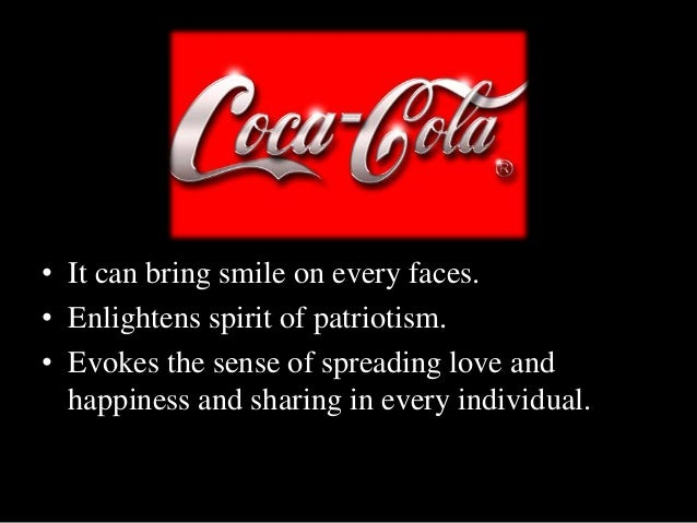coca cola advertisement analysis Written analysis on coca cola advertisment 1 the product being advertised is a drinkthe brand name for the product is coca cola.