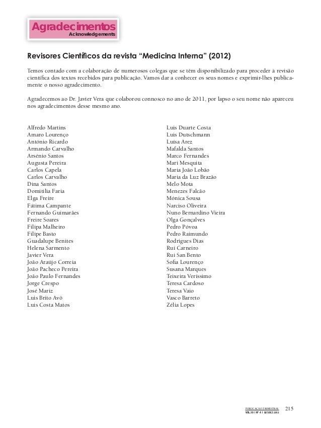 215PUBLICAÇÃO TRIMESTRALVOL.19 | Nº 4 | OUT/DEZ 2012AgradecimentosAcknowledgementsAlfredo MartinsAmaro LourençoAntónio Ric...