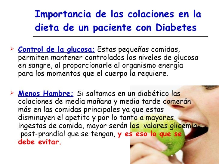 Colaciones saludables . Educacion Diabetes Hospital San Jose