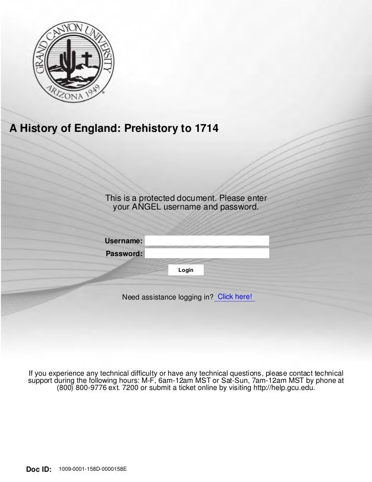 A History of England: Prehistory to 1714                              This is a protected document. Please enter          ...