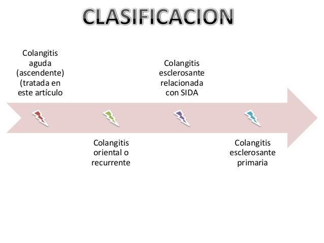 Colangitis    aguda                      Colangitis(ascendente)                  esclerosante (tratada en                 ...