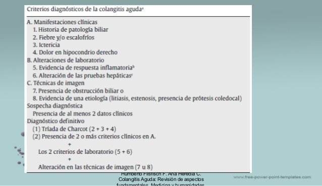 Humberto Flisfisch F. Ana Heredia C. Colangitis Aguda: Revisión de aspectos