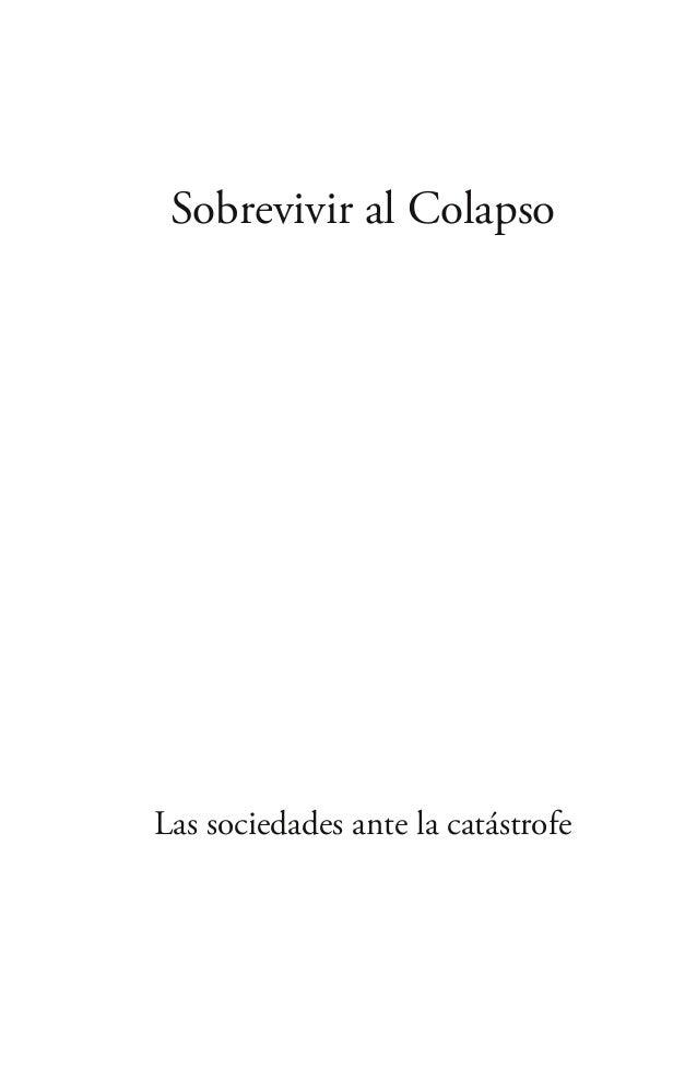 Sobrevivir al Colapso Las sociedades ante la catástrofe