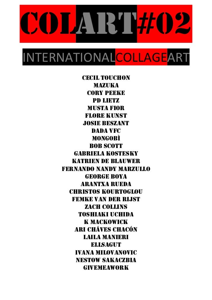 COLART#02INTERNATIONALCOLLAGEART           CECIL TOUCHON                MAZUKA              Cory peeke                Pd l...