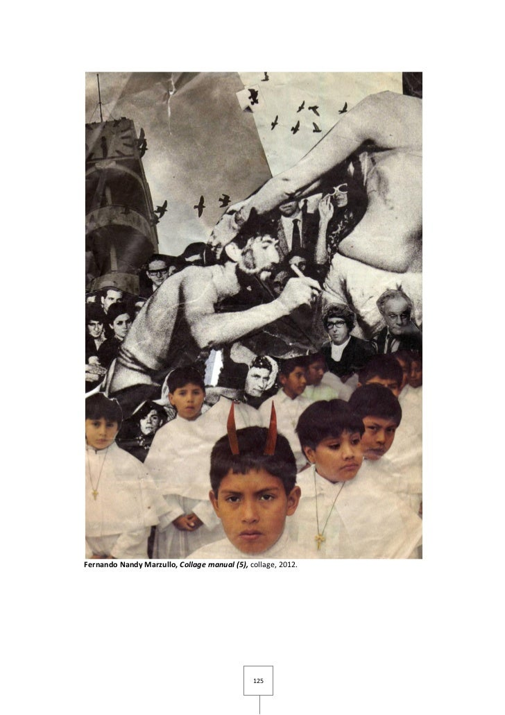 Fernando Nandy Marzullo, Collage manual (5), collage, 2012.                                              125