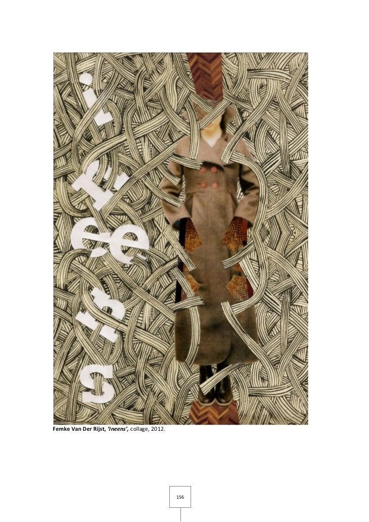 Femke Van Der Rijst, 'Ineens', collage, 2012.                                                156