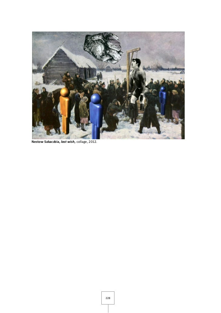 Nestow Sakaczbia, last wish, collage, 2012.                                              228