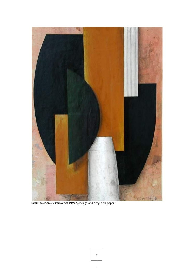 Cecil Touchon, Fusion Series #1917, collage and acrylic on paper.                                                  3