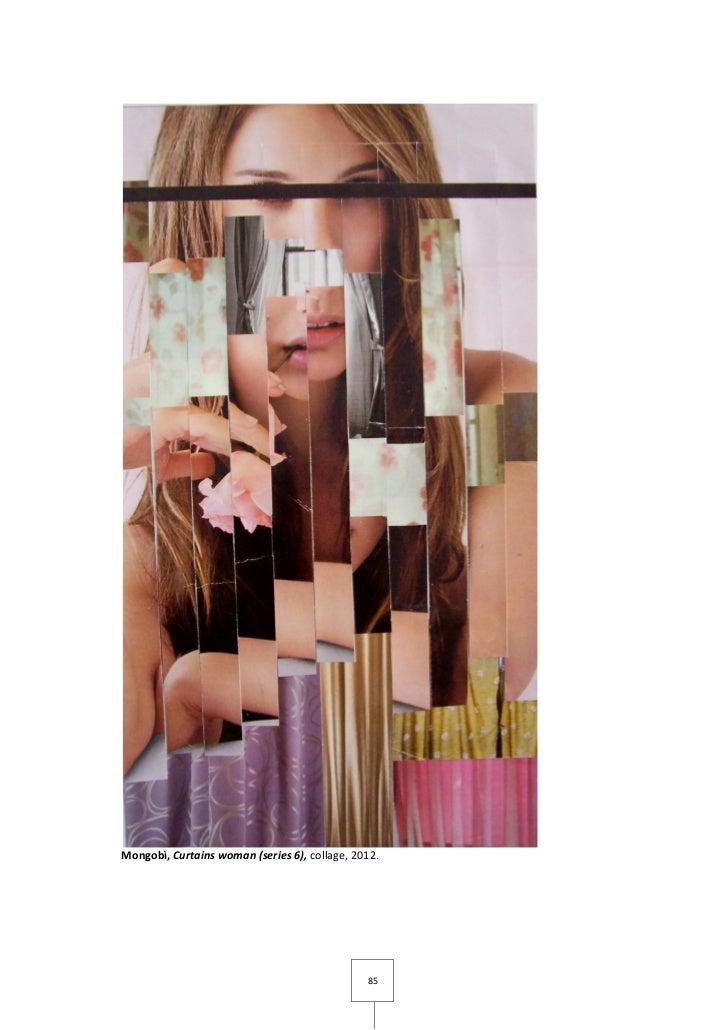 Mongobì, Curtains woman (series 6), collage, 2012.                                               85