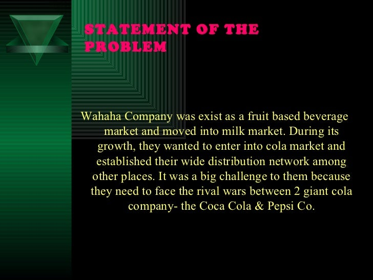 """issues with cola war Summary: cola wars continue: coke and pepsi in the 21st century"""" explains the economics of the soft drink industry and its relation with profits, taking into account all stages of the value."""
