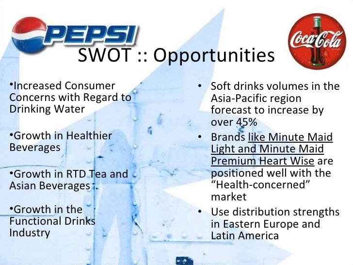 swot of minute maid This coca cola swot analysis reveals how the company controlling one of the most iconic brands of all time used its competitive advantages to become the world's second largest beverage manufacturer.
