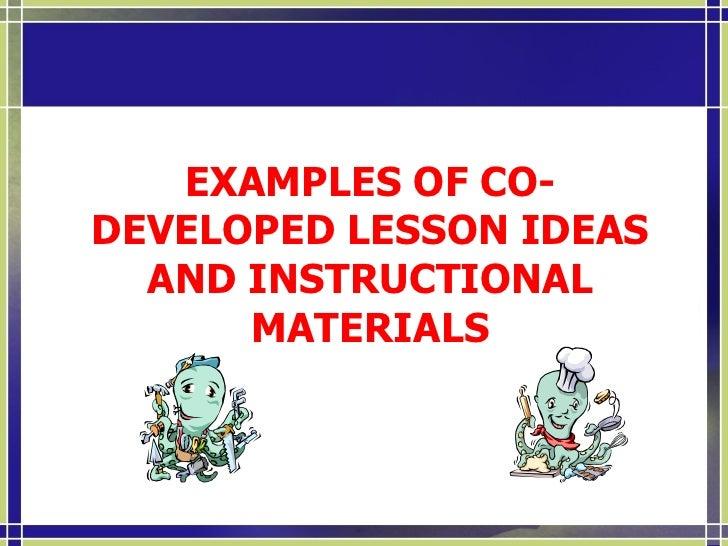 Collaborative Activities  <ul><li>Instructional:  </li></ul><ul><li>(1) joint planning,  </li></ul><ul><li>(2) curriculum ...