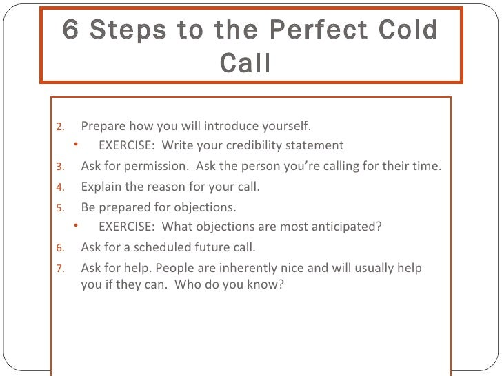Cold Calling In The 21st Century