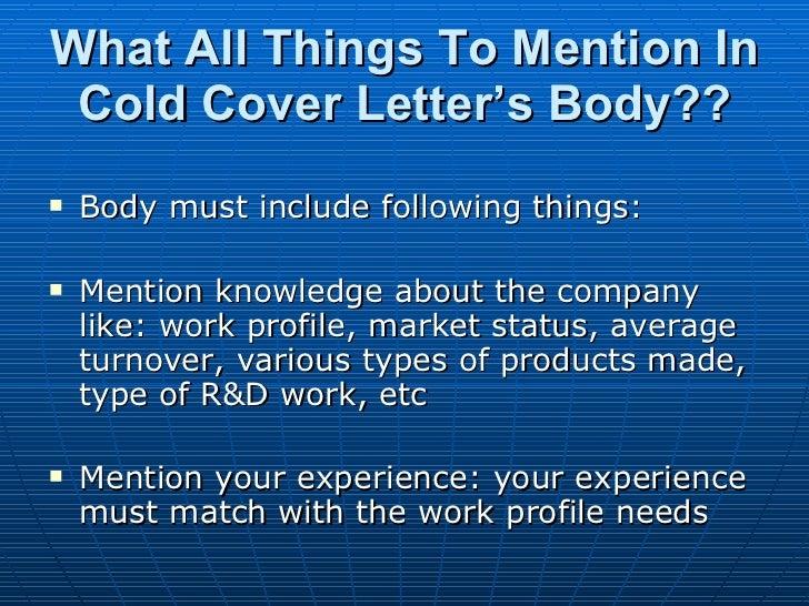 Cover letter do not