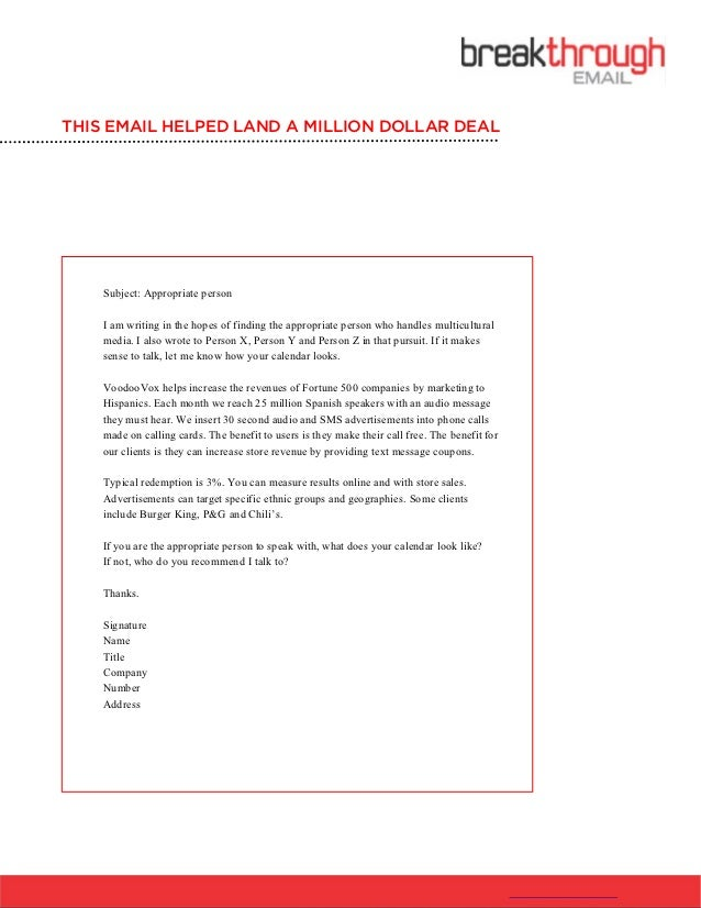 How To Write a Cold email-template