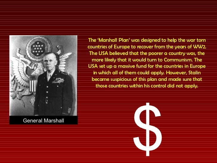 Cold war how did the usa try and prevent the spread of - The marshall plan was designed to ...