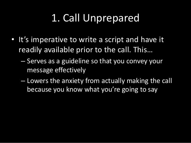 What Not to Do When Cold Calling Slide 2