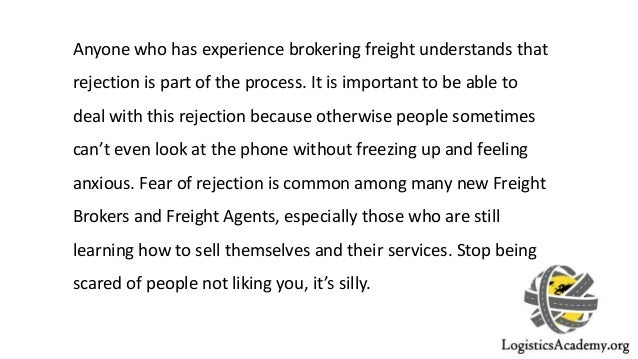 Cold Calling & Dealing with Rejection as a Freight Broker