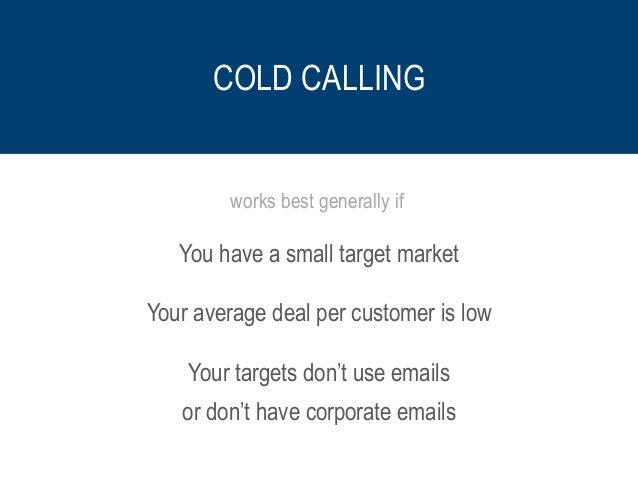 Cold Calling vs Cold Emailing Slide 2
