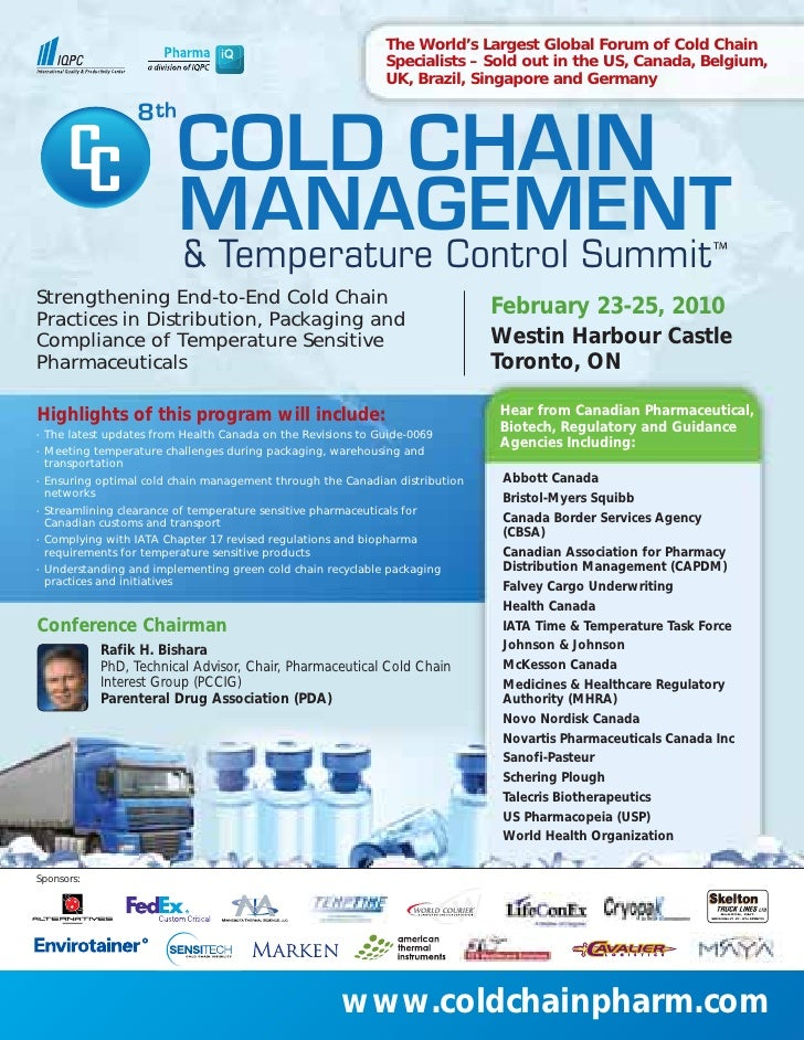 The World's Largest Global Forum of Cold Chain                                                               Specialists –...