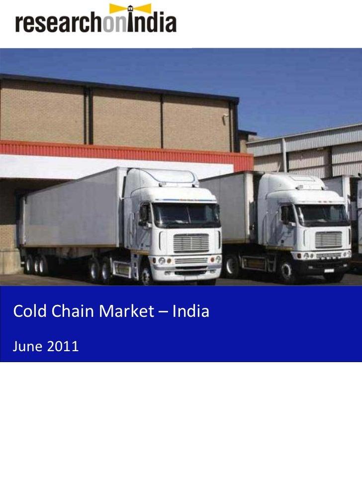 ColdChainMarket– IndiaJune2011
