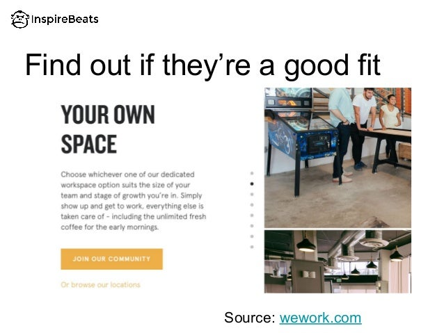 Find out if they're a good fit Source: wework.com
