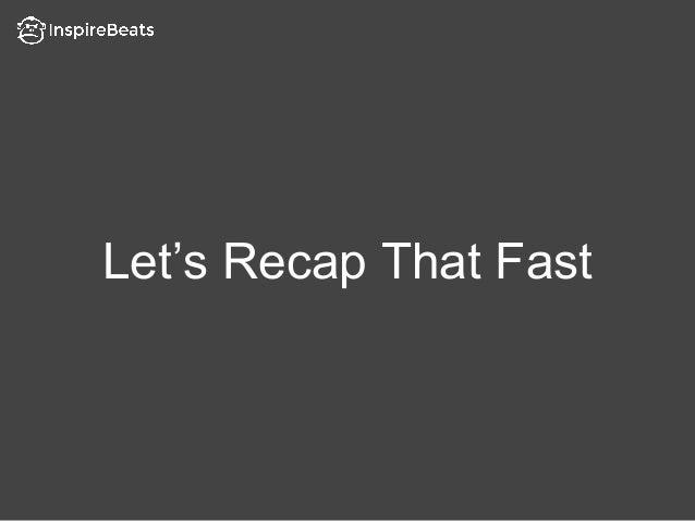 Let's Recap That Fast