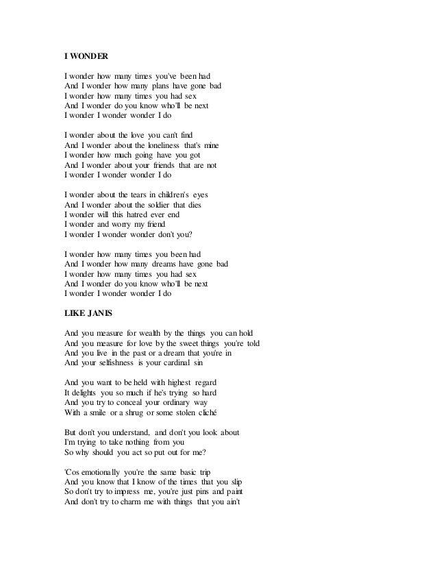 Lyric mary did u know lyrics : Cold fact%2c lyrics