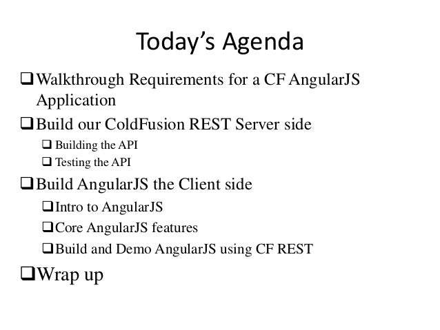 Building ColdFusion And AngularJS Applications Slide 2