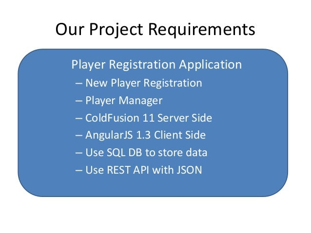 Building ColdFusion And AngularJS Applications Slide 3