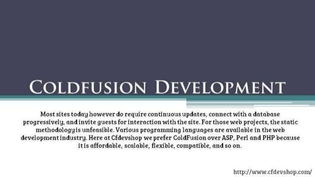 Coldfusion Development | Website Application Development