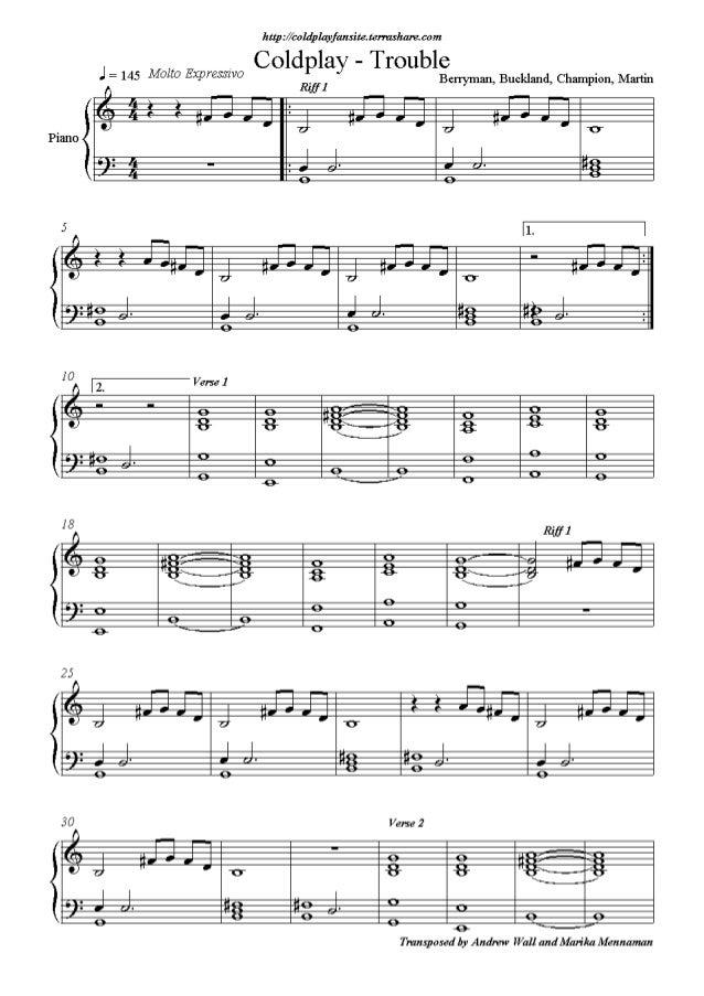 Coldplay Sheet Music Solidaphikworks